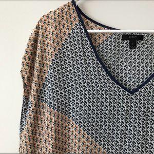 J. Crew Tops - J Crew Silk Abstract Diamond Tunic Size Small NWOT